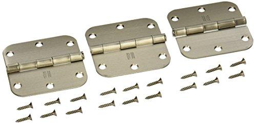 NATIONAL MFGSPECTRUM BRANDS HHI N830-328 Door Hinge 35-Inch Sat Nickel  3-Pack