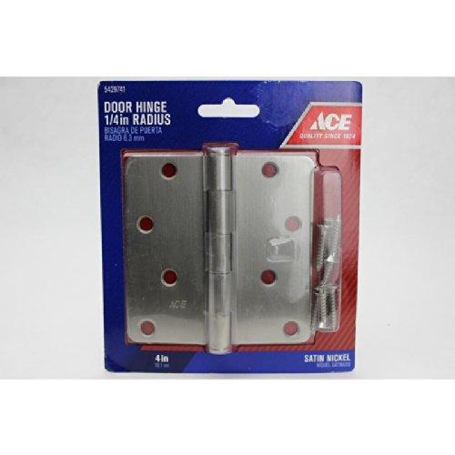 4 SATIN NICKEL 14 RADIUS DOOR HINGE ACE Satin Nickel Steel 5429741