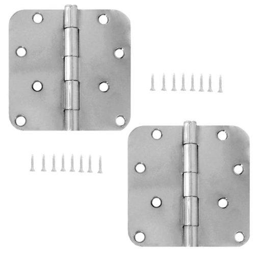 Stanley S821-603 4 Inch 58 Radius Door Hinges Satin Chrome Pack of 2