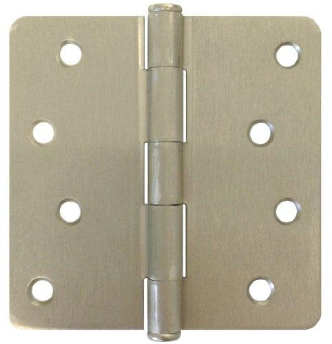 15 PC Satin Nickel 4 X 4 14 Radius Exterior Door Hinges