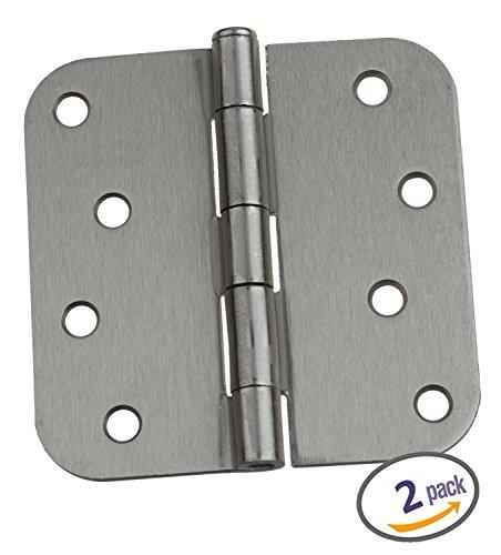 Dynasty Hardware 4 Door Hinges 58 Radius Corner Satin Nickel 2-Pack