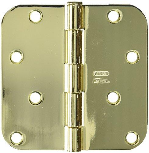 Stanley National Hardware V8034 4 Door Hinge in Polished Brass