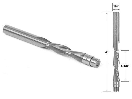 Yonico 14120 Flush Trim Solid Carbide Spiral Down-Cut Router Bit 14-Inch Shank