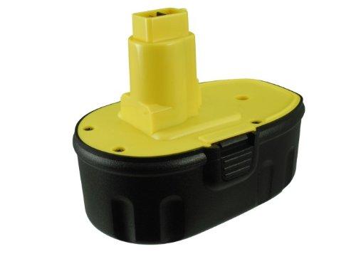 Battery2go - 1 year warranty - 180V Battery For Dewalt DC608K DC820KA DC988 DW989 DC380KB DCD690KL DC821KA DC823B