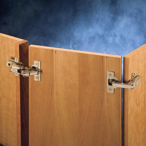 Salice 12 Overlay Face Frame Hinge Kit for Pie-Corner Cabinets