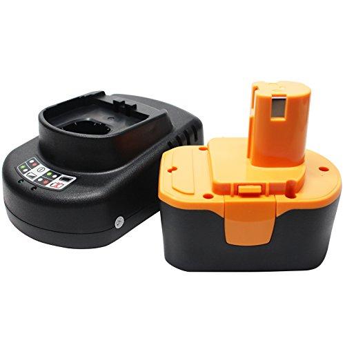 Ryobi CTH1442 Battery  Universal Charger for Ryobi Replacement - For Ryobi 144V Power Tool Batteries and Chargers 1300mAh NICD
