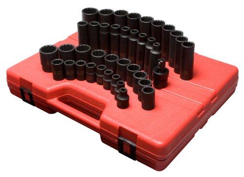 Sunex 2699 12-Inch Drive 12-Point Metric Master Impact Socket Set 39-Piece