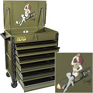 Sunex Tools SUN8057XTDOROTHY Pin Up Girl Series Premium Full Drawer Service Cart - Dorothy