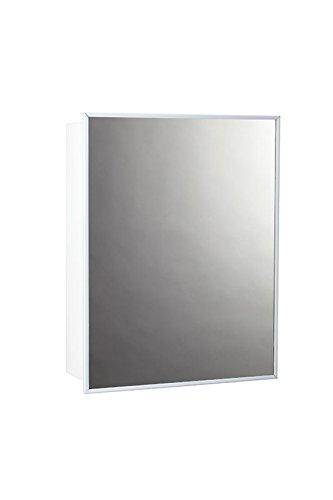 Jensen 26018CHX Stainless Steel Frame Medicine Cabinet 14 x 18