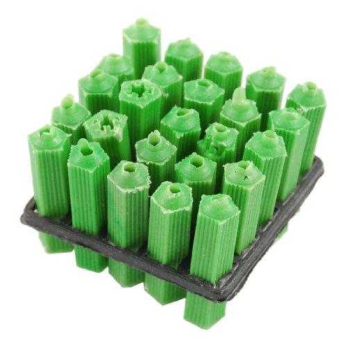 Water Wood Plastic Screws Fixing Wall Plugs Anchor Green 25 Pcs