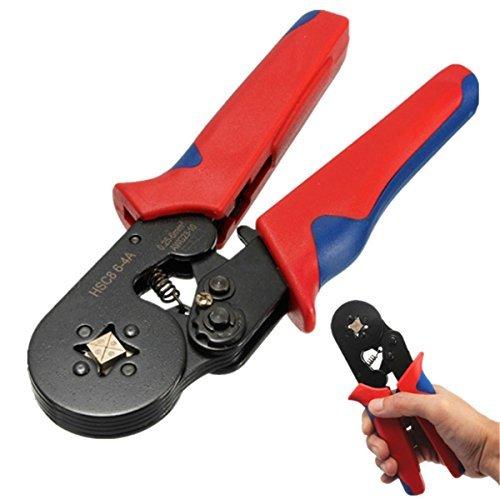 HSC8 6-4A AWG23-10 025-6mm² Wire Stripper Self Adjusting Crimping Plier Ratcheting Ferrule Crimper