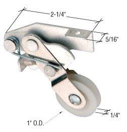 CRL Sliding Screen Door Bottom Roller 1 Nylon Wheel - Package