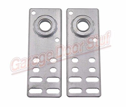 Garage Door End Bearing Plates- 1 Pair - 8-14