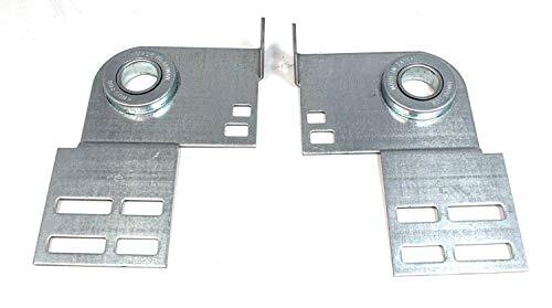 Universal Garage Door End Bearing Plates - Pair 3 38 Residential Brackets