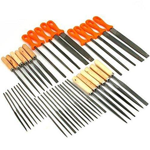 42 Wood Needle Files Warding Metal Riffler Set Tools