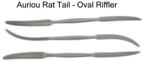 Auriou Rat Tailoval Riffler Rasp for Wood 8in Grain 12