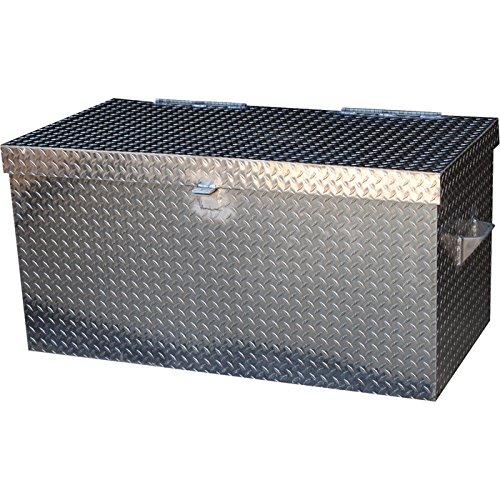 Vestil APTS-3648 Aluminum Tread Plate Portable Tool Box 2500 lb Capacity Padlock Shackle diameter 716