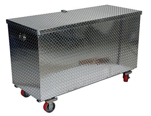Vestil model APTS-3060-C aluminum treadplate portable tool box with casters 2500 lb capacity 30 x 60