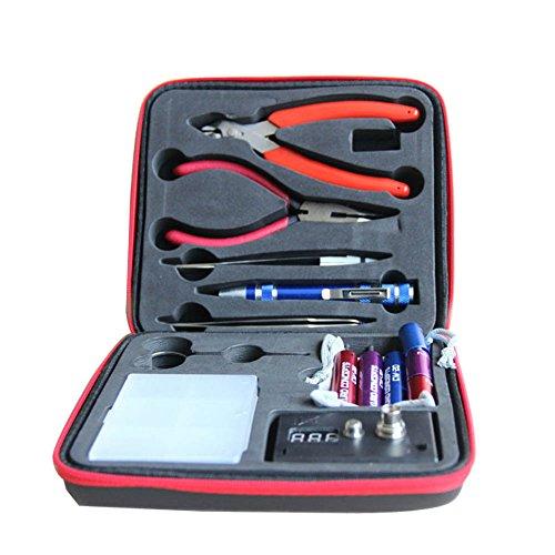 Updated Vape DIY Tool Kit 6-IN-1 Jig Coil Kit V3 ohm Meter Diagonal Pliers Scissors Screwdriver Ceramicelbow Tweezer Kanthel Wire Case