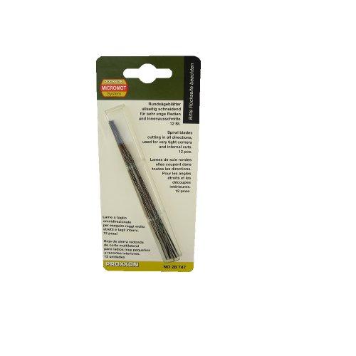 Proxxon 28747 Spiral Scroll Saw Blades without Pin