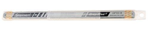 Starrett KGF1018-10 High Carbon Steel Grey Flex Hand Hacksaw Blade 0025 Thick 18 TPI 10 Length x 12 Width Pack of 10
