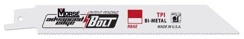 MK Morse RBAE121521T05 Advanced Edge Bolt 1521 TPI Bimetal Reciprocating Saw Blade 12-Inch 5-Pack
