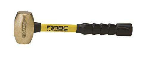 ABC Hammers ABC4BFB  Brass Hammer with 12 Fiberglass Handle 4-Pound