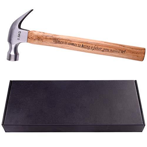 TUPARKA 500g1763oz Wood Handle Steel Hammer Tool Hammer for Daily Repair Tools