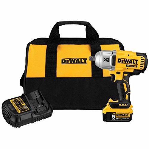 DEWALT 20V MAX XR Impact Wrench Kit Brushless High Torque Detent Anvil 12-Inch DCF899P1