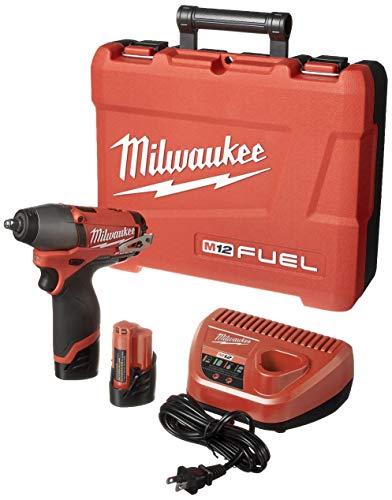 Milwaukee 2454-22 M12 Fuel 38 Impact Wrench Kit W2 Bat